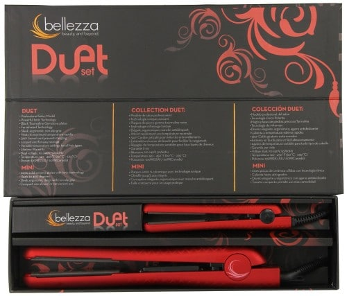 Bellezza Duet Flat Irons - Metallic Red