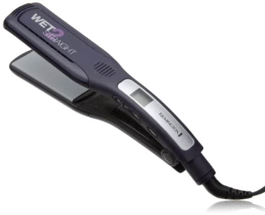 Remington S8001G Wet 2 Straight Wide Plate Wet:Dry Ceramic Hair Straightening Iron with Tourmaline