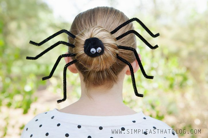 Creepy Halloween Costumes and Hairstyles: Spider Band