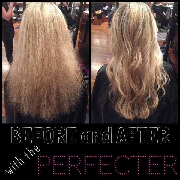 Calista Tools Perfecter Heated Brush - before and after