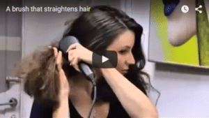 How to straightens hair with brush