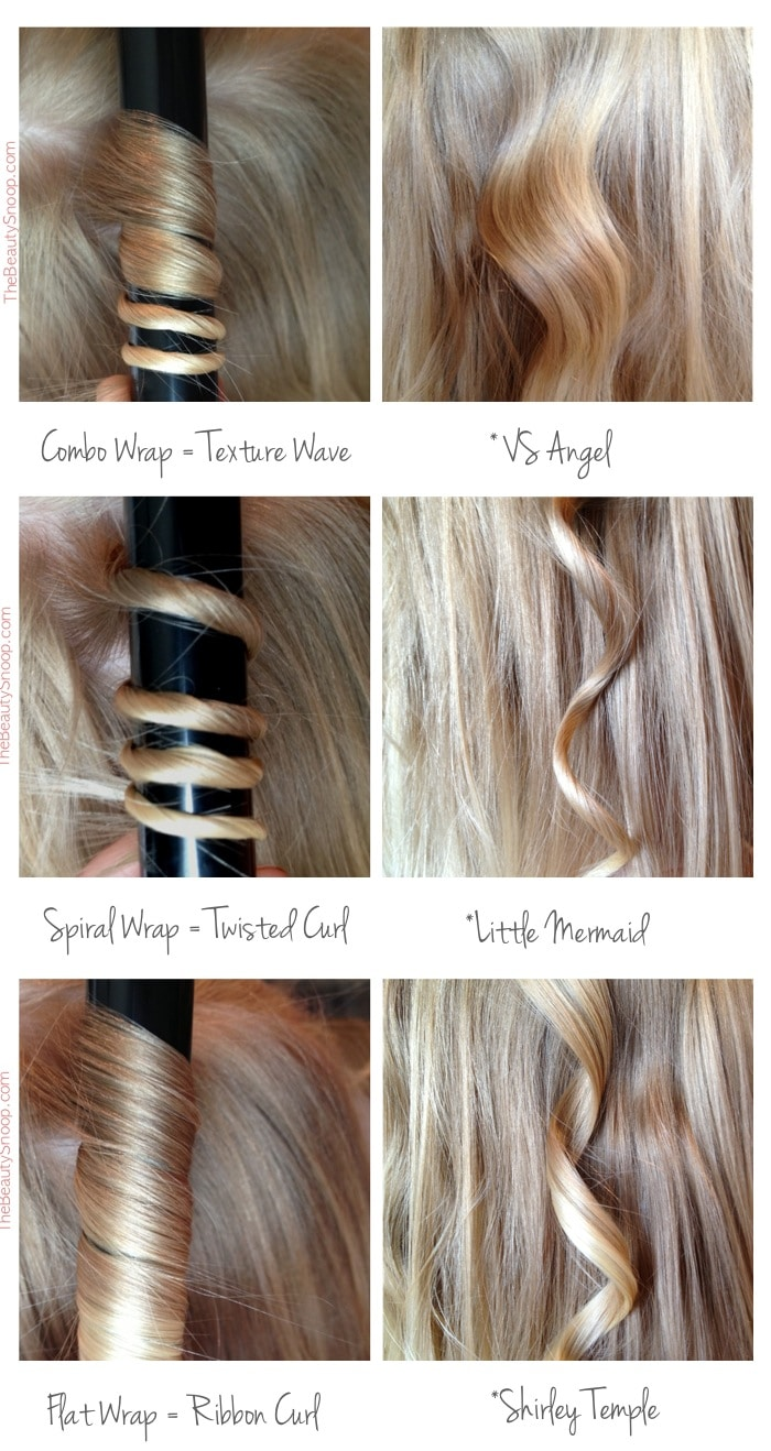 Types of wand curls