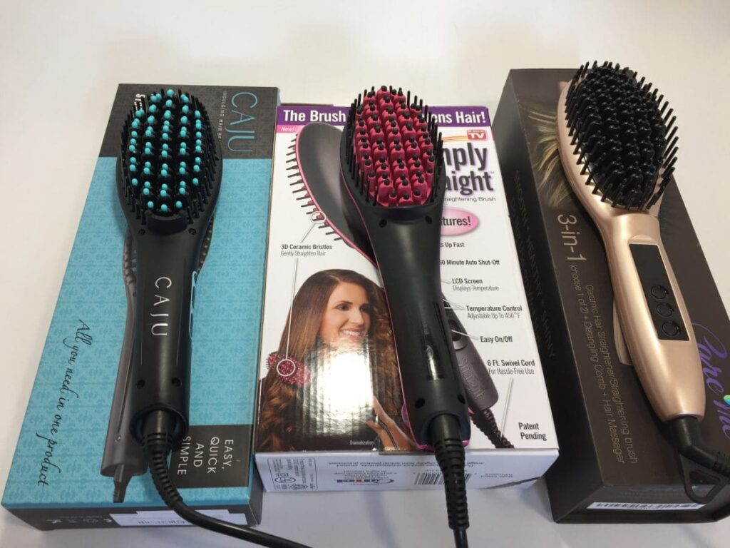 Simply Straight brush vs other straightening brushes