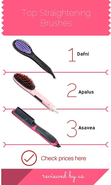 Top straightening brushes