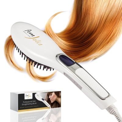 FemJolie flat iron brush straightener