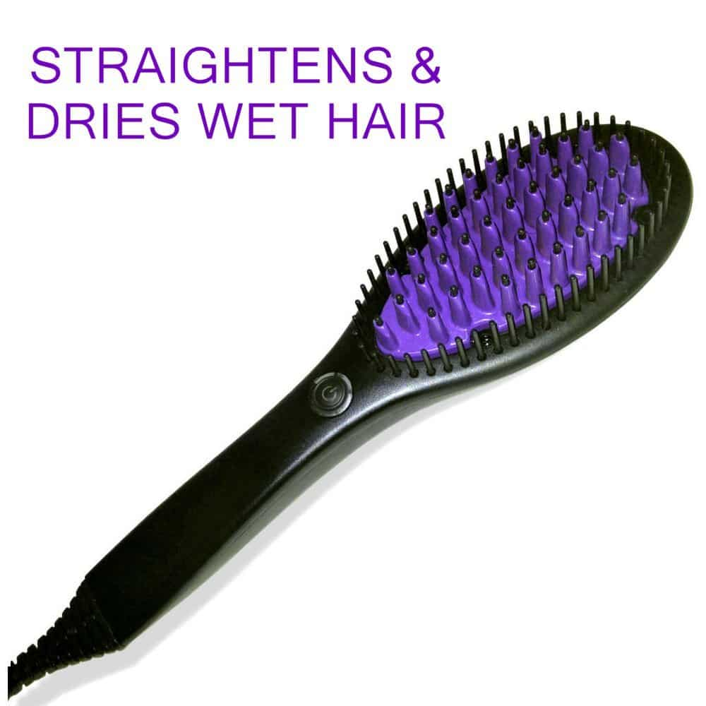 Phoenix flat iron brush straightener