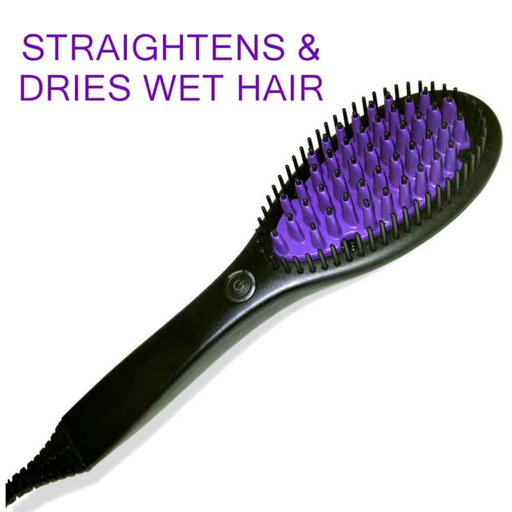 Phoenix flat iron brush straightener