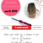 Giveaway time: NuMe Curling Wand!