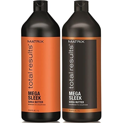 matrix total results sleek shampoo conditioner liter duo