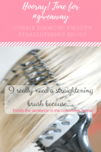 #Giveaway Conair Diamond Smooth Straightening Brush