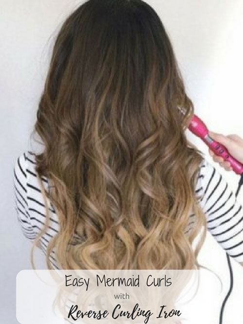 Best Reverse Curling Wand for Mermaid Curls