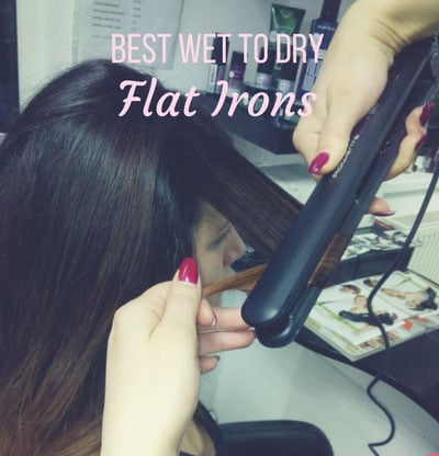 Wet to dry flat iron