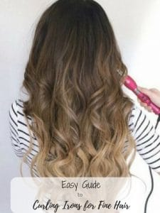Using a curling iron on fine hair