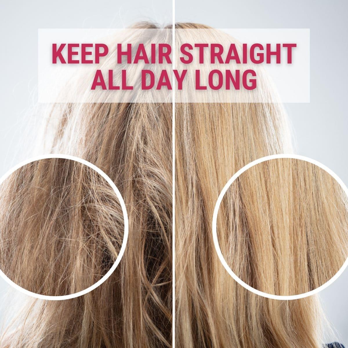 keep hair straight longer after straightening